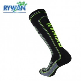 Chaussettes de ski RYWAN Bio-ceramic Noir / Jaune Unisexe