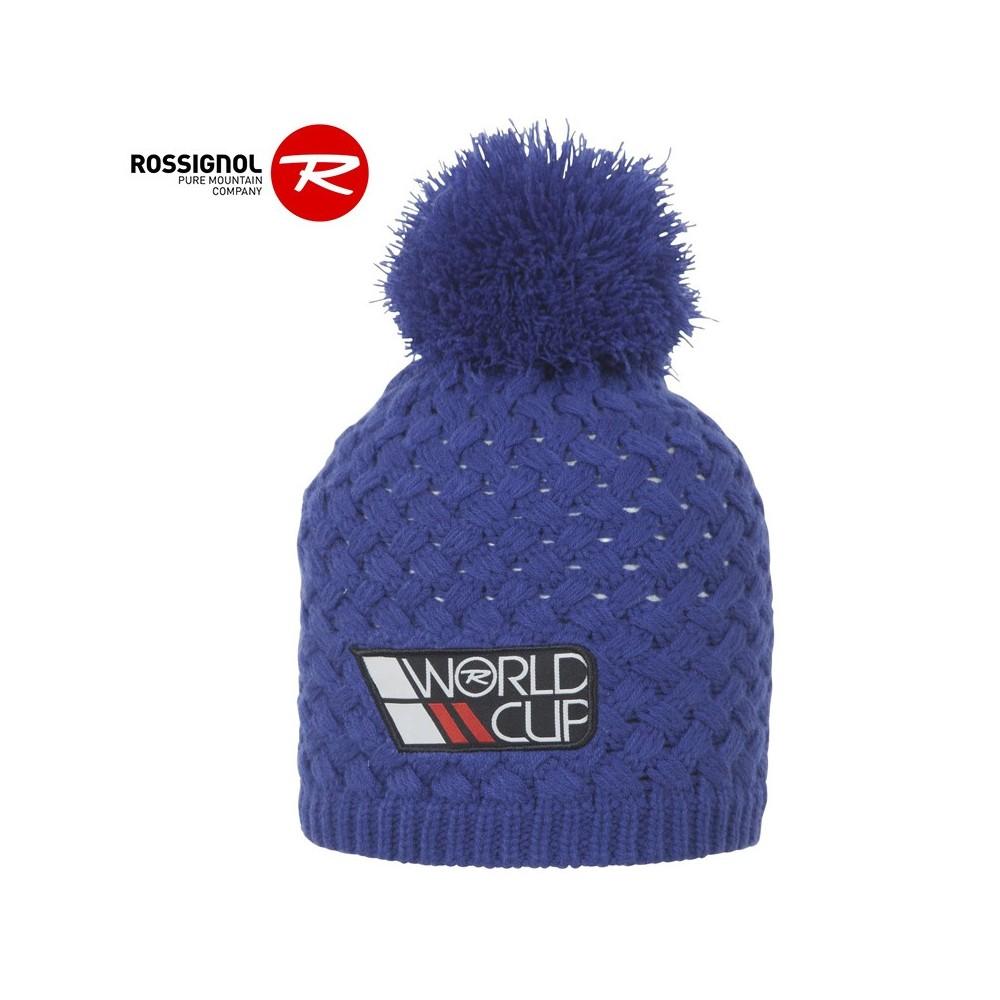 Bonnet de ski ROSSIGNOL World Cup Pompon Bleu Homme