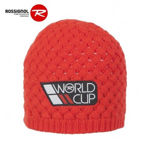 Bonnet de ski ROSSIGNOL World Cup Rouge Orangé Homme
