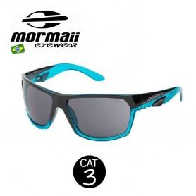 Lunettes MORMAII Amazonia II Noir / Bleu Homme - Cat.3