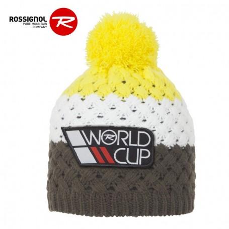Bonnet de ski ROSSIGNOL World Cup Pompon Jaune / Kaki Junior