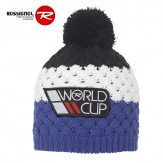 Bonnet de ski ROSSIGNOL World Cup Pompon Noir / Bleu Junior