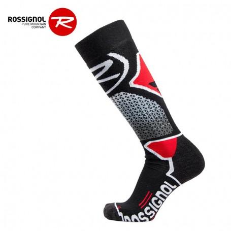 Chaussettes de ski ROSSIGNOL Wool & Silk Noir / Rouge Unisexe