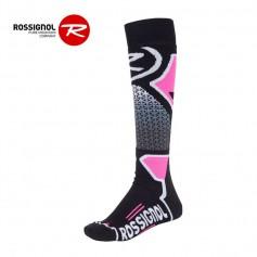 Chaussettes de ski ROSSIGNOL Wool & Silk Noir / Rose Unisexe