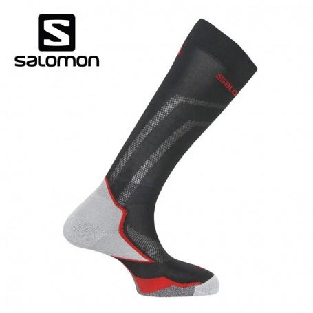 Chaussettes de ski SALOMON X Max Noir / Rouge Unisexe