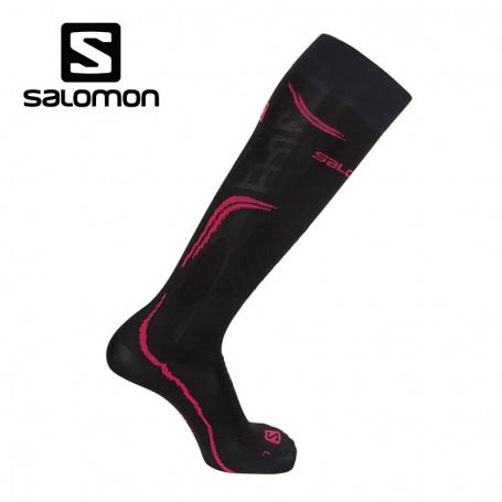Chaussettes de ski SALOMON X Pro Noir / Rose Femme
