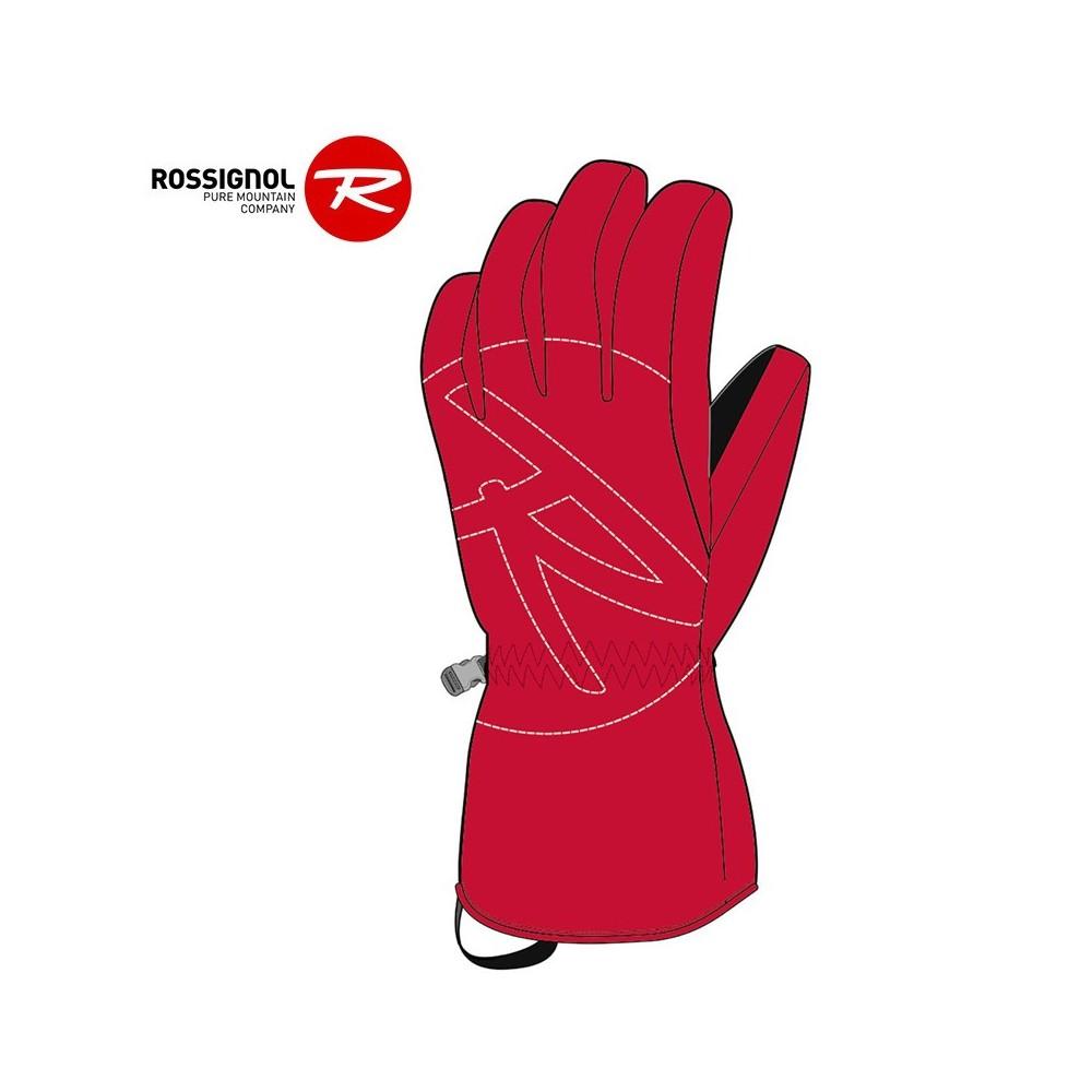 Gants de ski ROSSIGNOL Rossi Rouge Orangé Junior