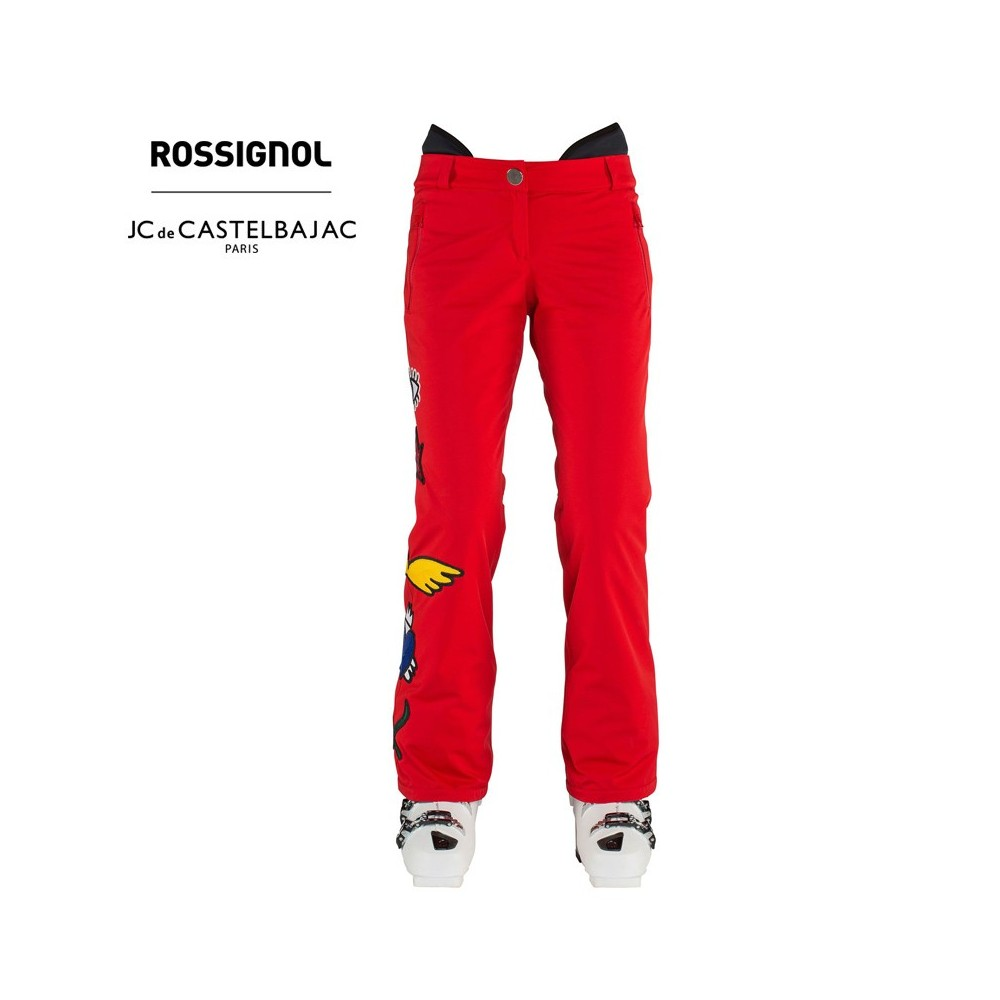 Pantalon de ski ROSSIGNOL JCC Signak Carmin Femme
