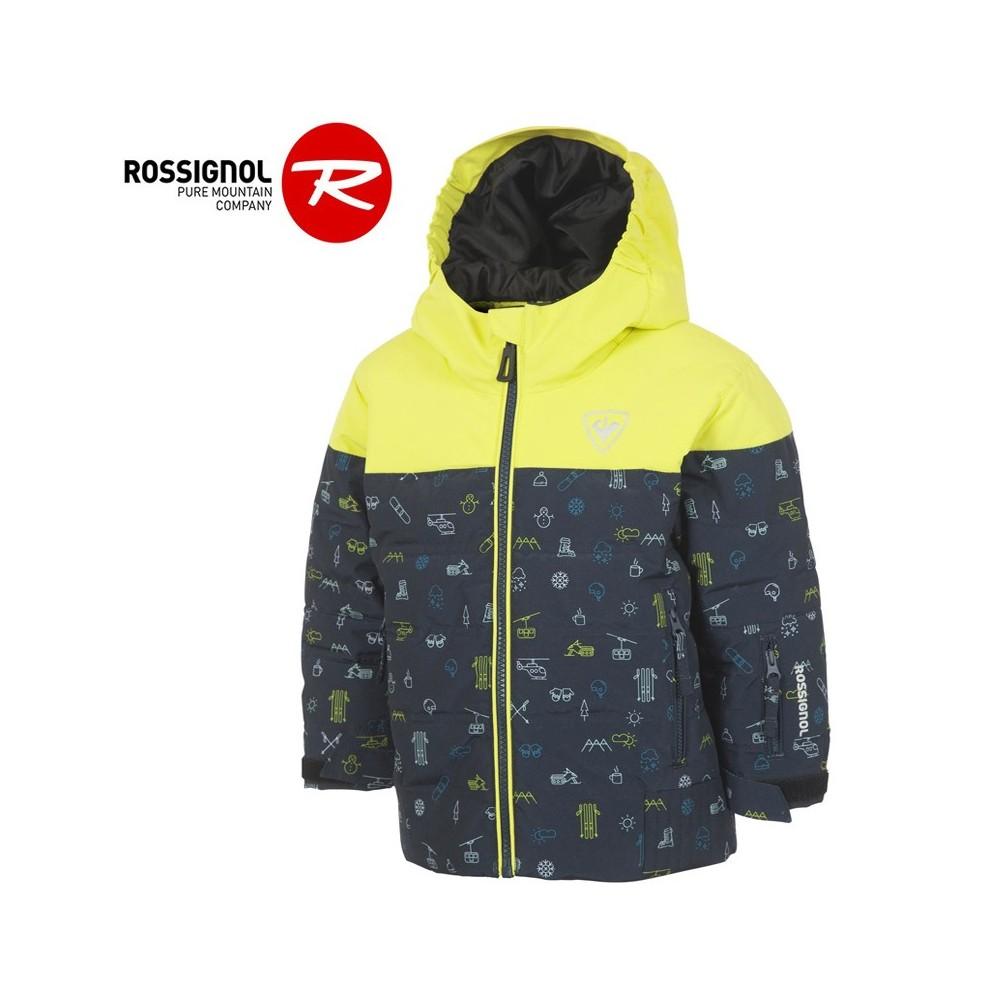Doudoune de ski ROSSIGNOL Kid Flocon Jaune Junior