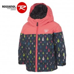 Doudoune de ski ROSSIGNOL Kid Flocon Rose Fille