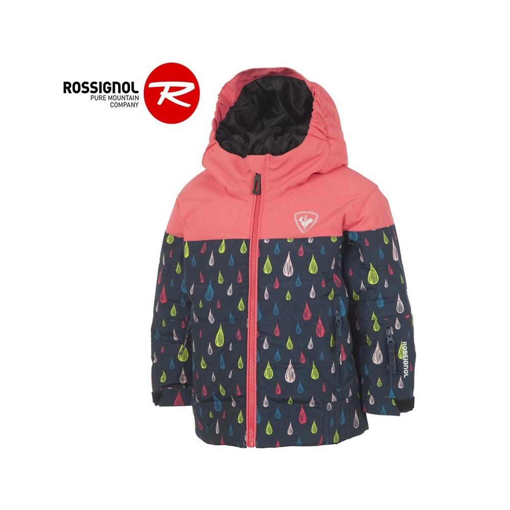 Doudoune de ski ROSSIGNOL Kid Flocon Rose Fille