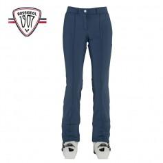 Pantalon de ski ROSSIGNOL 1907 Roches Softshell Bleu Jean Femme