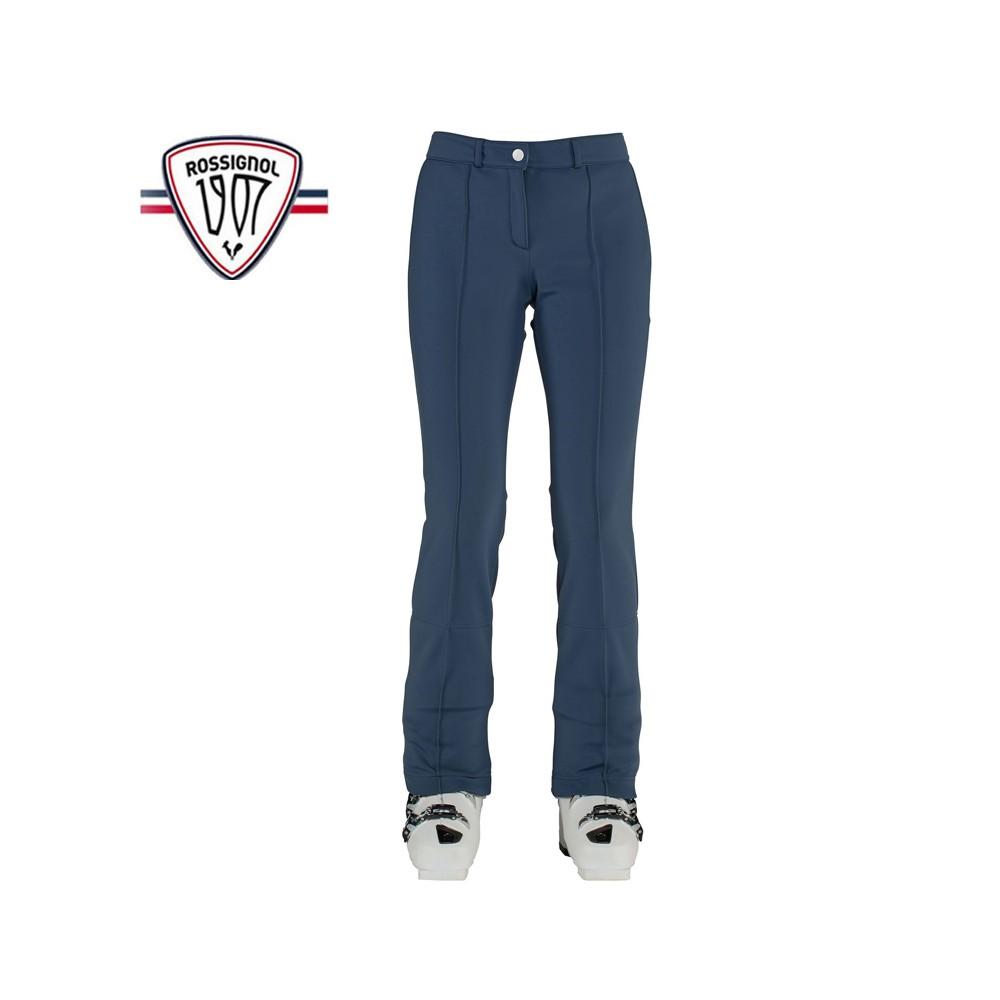 Pantalon de ski ROSSIGNOL 1907 Roches Softshell Bleu Jean