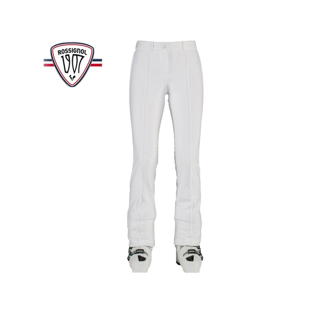 Pantalon de ski ROSSIGNOL 1907 Roches Softshell Blanc Femme