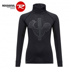 Maillot ROSSIGNOL Courbe Roll Neck Noir Femme