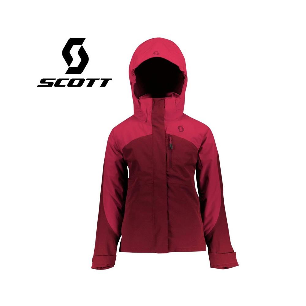 Veste de ski SCOTT Vertic Fuschia / Prune Fille