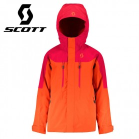 Veste de ski SCOTT Vertic Orange / Rouge Junior