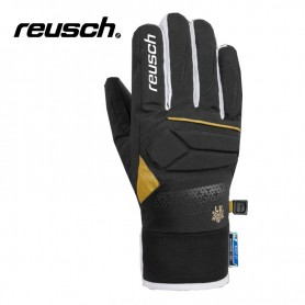 Gants de ski REUSCH Lindsey R-tex Noir / Or Junior