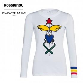 T-shirt ROSSIGNOL CASTELBAJAC Kaliste Blanc Femme