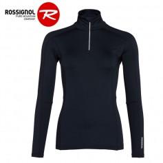 Maillot thermique ROSSIGNOL Classique 1/2 zip Bleu nuit Femme