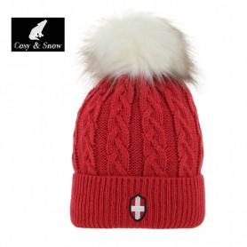 Bonnet de ski COSY & SNOW Steph Rouge Unisexe