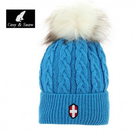 Bonnet de ski COSY & SNOW Steph Bleu Unisexe