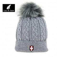Bonnet de ski COSY & SNOW Steph Gris chiné Unisexe