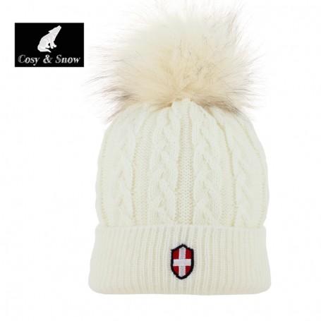 Bonnet de ski COSY & SNOW Steph Crème Unisexe