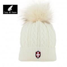 Bonnet de ski COSY & SNOW Steph Ecru Unisexe