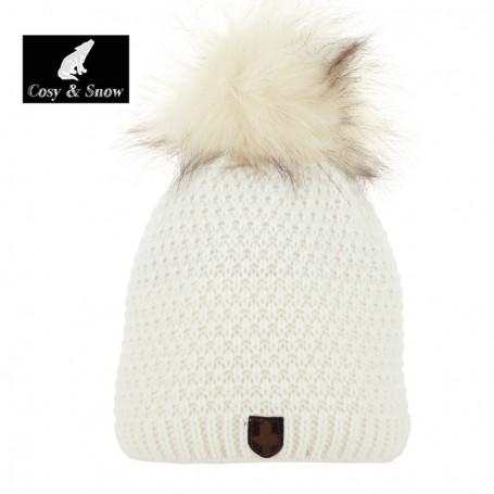 Bonnet de ski COSY & SNOW Nina Ecru Femme