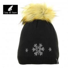 Bonnet de ski COSY & SNOW Tristar Noir Femme
