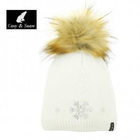 Bonnet de ski COSY & SNOW Tristar Ecru Femme
