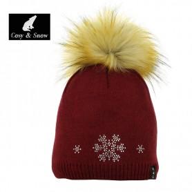 Bonnet de ski COSY & SNOW Tristar Bordeau Femme