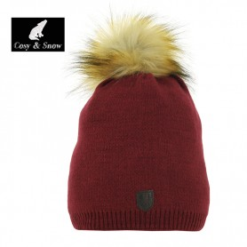 Bonnet tombant Cosy & Snow Angel Bordeau Femme