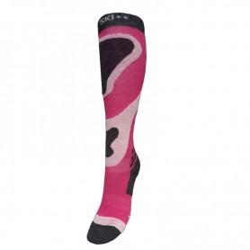 Chaussettes de ski SKI SOCKS Rose / Gris Femme