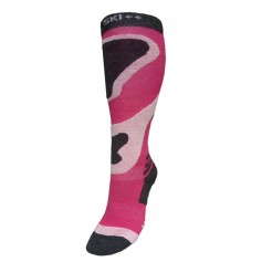 Chaussettes de ski SKI SOCKS Rose / Gris Junior