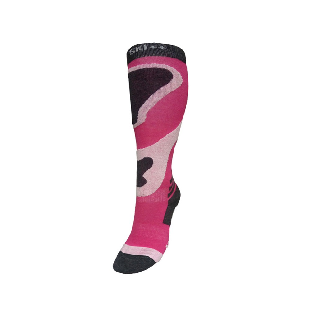 Chaussettes de ski SKI SOCKS Rose / Gris Junior