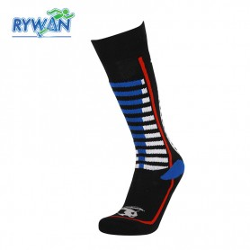 Chaussettes de ski RYWAN Fury Noir / Bleu Unisexe