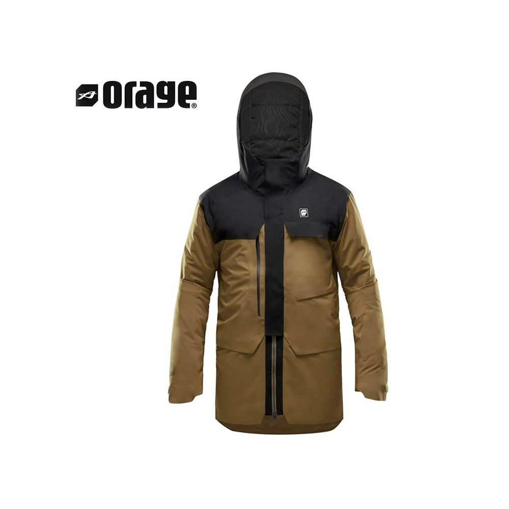Manteau de ski ORAGE Jefferson Gingembre Homme