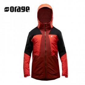 Veste de ski ORAGE Alaskan Terre / Orange Homme