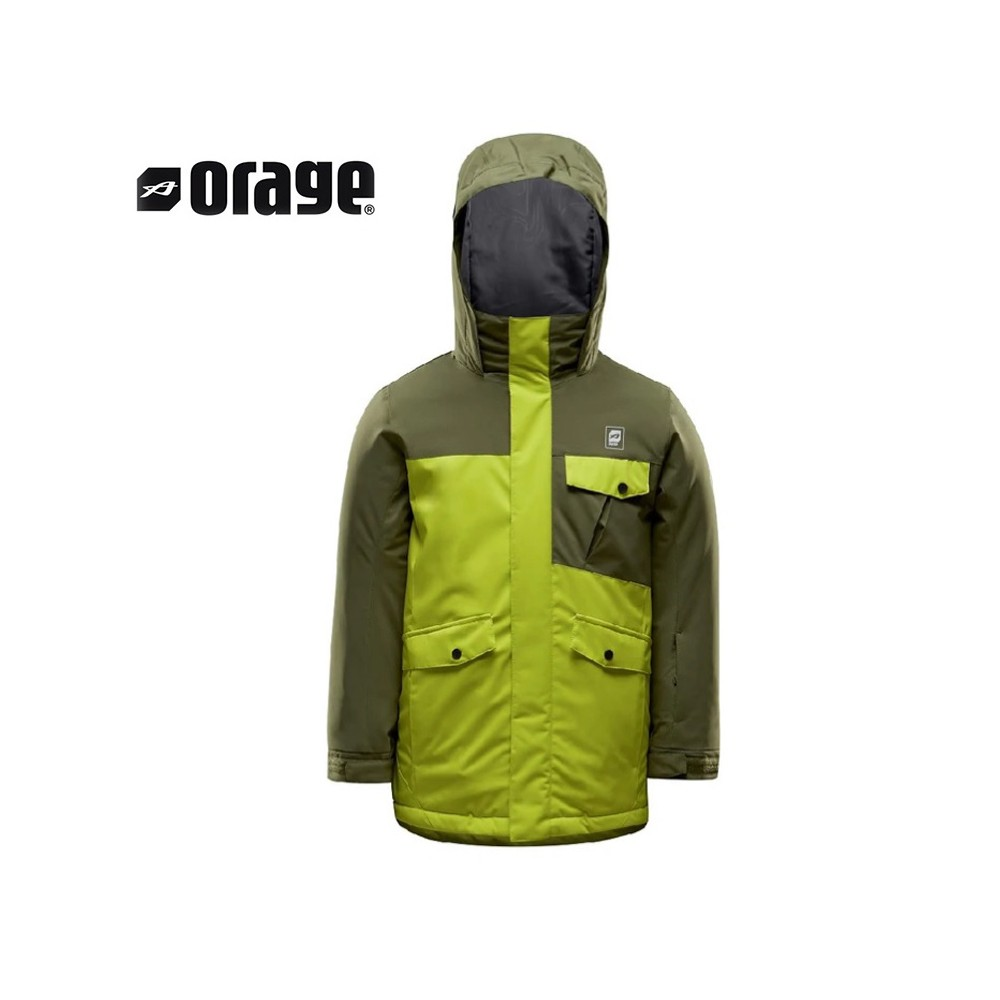 Veste de ski ORAGE Radar Kaki / Jaune Garçon