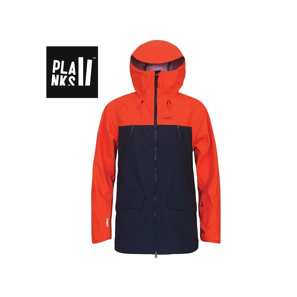 Veste de ski PLANKS Yeti Hunter Orange Homme