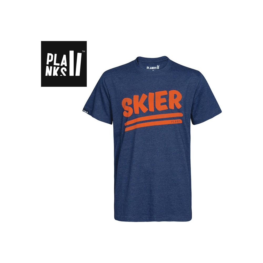 Tee-shirt PLANKS Skier Bleu Homme