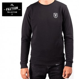 Sweat THE FACTION COLLECTIVE Crew Neck Noir Homme