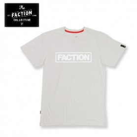 T-shirt THE FACTION COLLECTIVE Tall Logo Blanc Homme