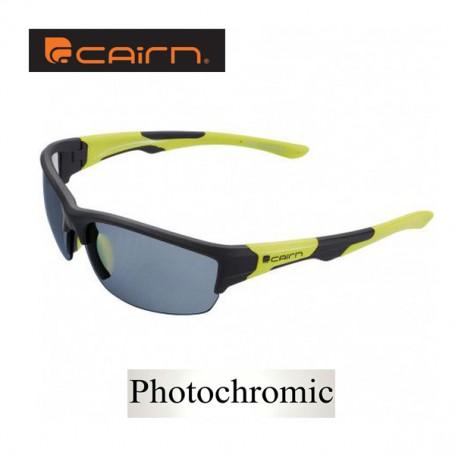 détaillant en ligne a55c3 9a02e Lunettes de soleil CAIRN Wave Noir / Vert Unisexe - Photochromique - Sport  a tout prix