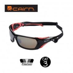 Lunettes polarisées CAIRN Racing Noir / Corail Homme - Cat.3