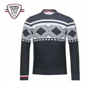 Pull ROSSIGNOL Hiver RN Gris Homme