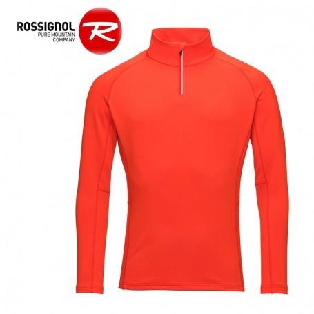 Maillot thermique ROSSIGNOL Classique 1/2 zip Rouge Orangé Homme