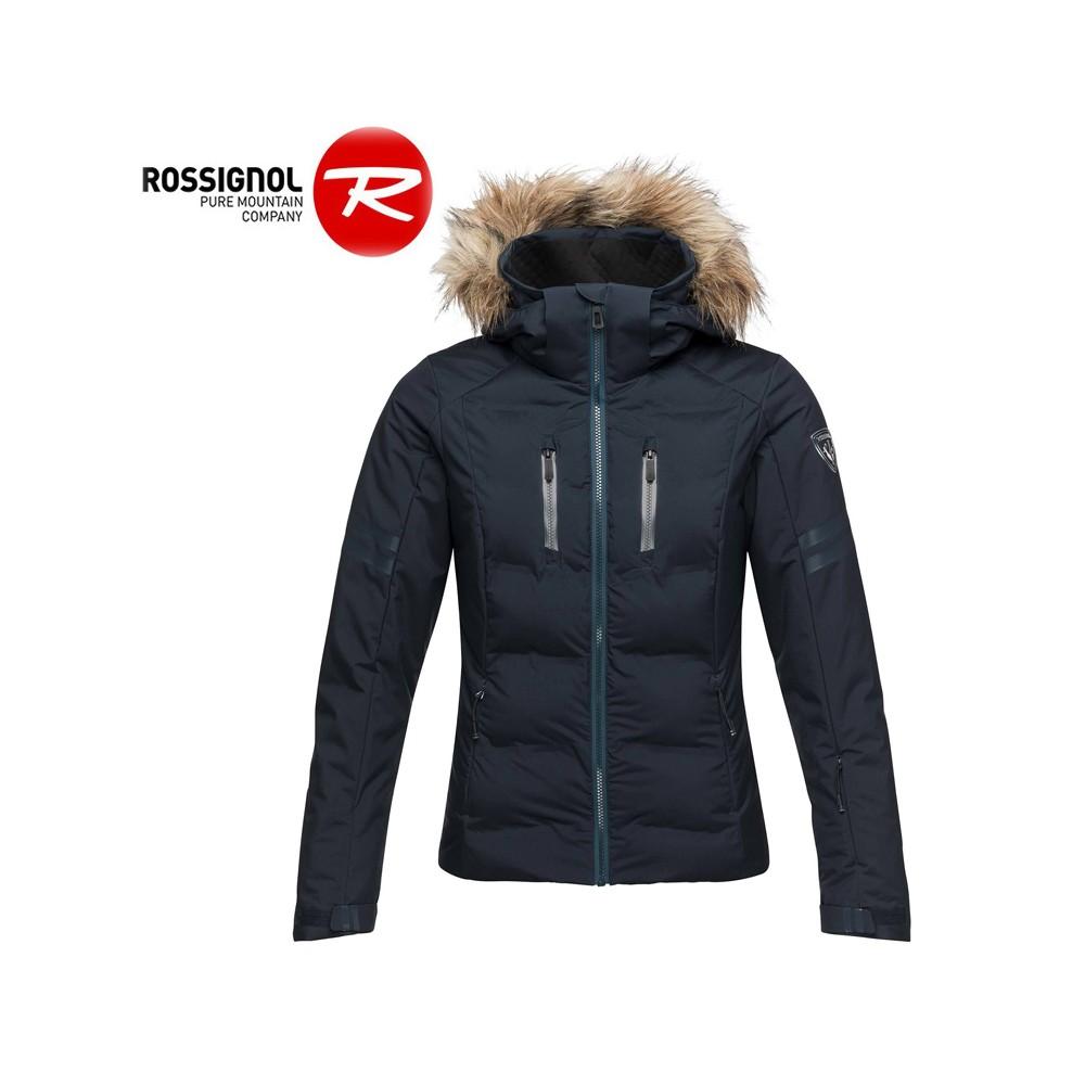 nouveaux articles braderie vif et grand en style Doudoune de ski ROSSIGNOL Départ Bleu marine Femme - Sport a tout prix